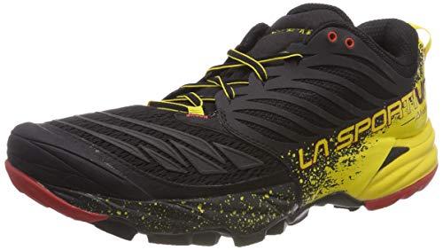 La Sportiva Akasha, Calzado Trail Running para Hombre, Multicolor (Black/Sulphur), 44