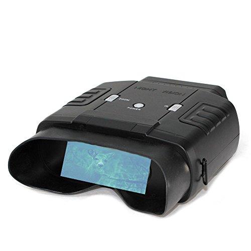Prismáticos de visión nocturna con alcance de hasta 60 m de noche y 400 m de día, 6 aumentos