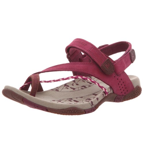 Merrell J36520_Vert - Sandalias de cuero para mujer, color rojo talla 39
